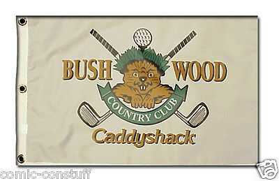 Caddyshack Bushwood Country Club Gopher logo golf 14x20 inch pin flag MINT NEW