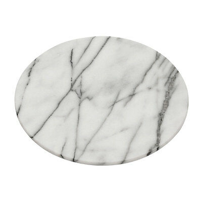 White Marble Lazy Susan With Polished Finish Rotating Serving Tray