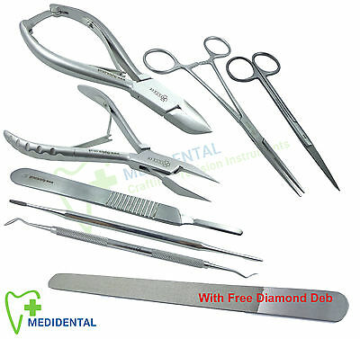 Manicure Pedicure Tools Chiropody Podiatry Kit Ingrown Toe Nail Clipper Save £25