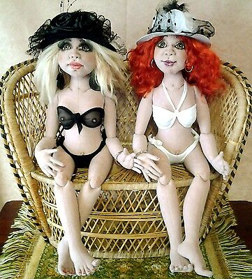 """*new* Cloth Art Doll E-Pattern File """"all About Eve!"""" By Sheryl D'ath"""