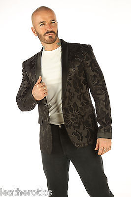 Deluxe Mens Blazer Steampunk Outfit Vintage Dress Coat Pirate Top