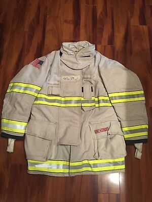 Firefighter Turnout / Bunker Coat Globe G-Extreme 44x35 White Chief