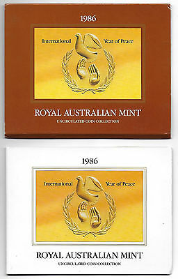 Royal Australian Mint 1986 Uncirculated Seven Coin Set #25 - Free Postage