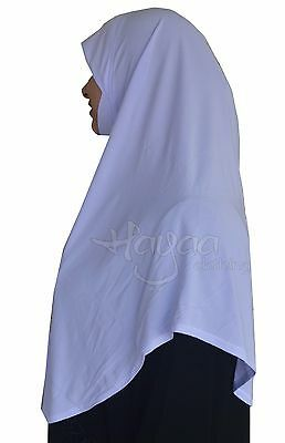 Hayaa Clothing  White  Khimar Slip on Easy Hijab with Chin Cover  2XL