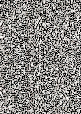 205 X 64 X 1Mm Bumpy Cobblestone Road Path Treated Paper Sheet 3D Look & Feel