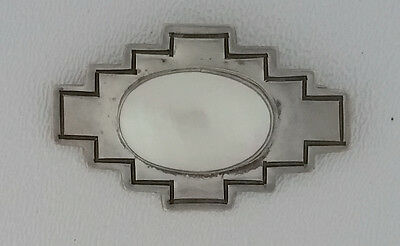 Nakai Sterling Silver Tribal Mother of Pearl Brooch
