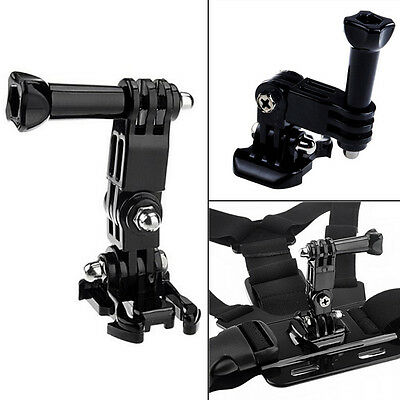 Quick Release 3-Way Pivot Arm Active Link Chest Strap Mount For GoPro Hero 4 3 2