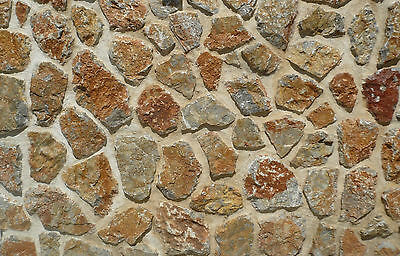 200Mm X 270Mm X 1Mm G Scale Bumpy Stone Wall Treated Paper Sheets 3D Look & Feel