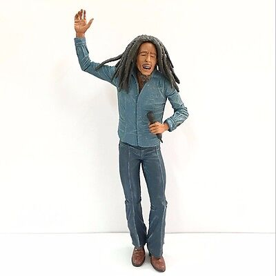 Bob Marley Music figure Legends Jamaica Singer with Microphone Rare figure HA242