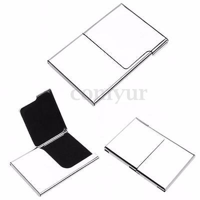 Semi-open Business Credit ID Card Holders Metal Pocket Case Box Stainless Steel