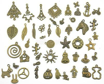100pcs Assorted Antique Bronze Charms/Pendants DIY Jewelry Making Findings