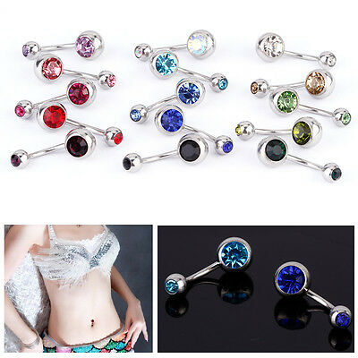 Lot 15 Piercing nombril barbell arcade corps nez Sourcil Stud Bijoux strass