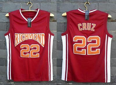 Timo Cruz #22 Richmond High Coach Carter Stitched Jersey Movie Basketball Red