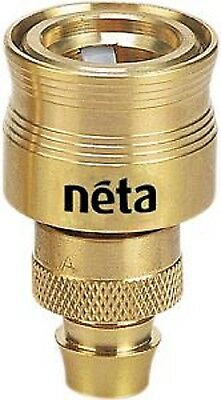 NETA Solid Brass Hose Connector Fits 12mm click-on and 12mm Hose 145055