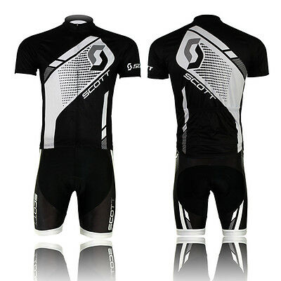 Mens Bike Outfit Cycling Clothing Wear Bicycle Jersey Bib Shorts Sleeve Sets