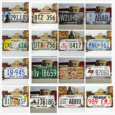 UNITED STATES Vintage Car License Plate Bar Room Home Decor Tags Collectible