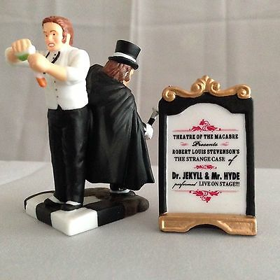 Dept 56 Dickens Village - The Strange Case of Dr. Jekyll & Mr. Hyde - 2 Pc - MIB
