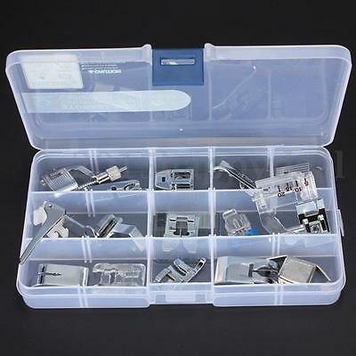 New 15Pcs Presser Foot Set for Janome Brother Singer Domestic Sewing Machine