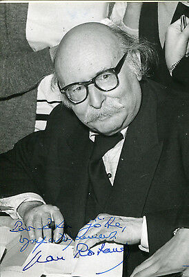 Jean Rostand autograph, French biologist, signed photo