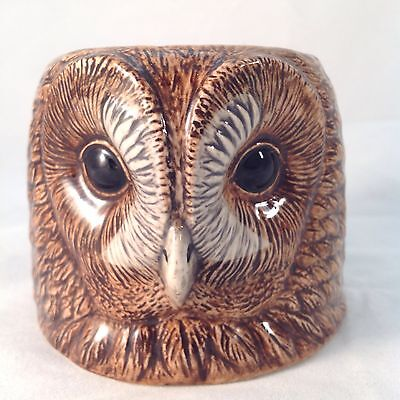 QUAIL CERAMICS Made In England TAWNY OWL EGG CUP Candle Holder
