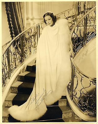 Loretta Young ACADEMY AWARD autograph, signed vintage OVERSIZED photo