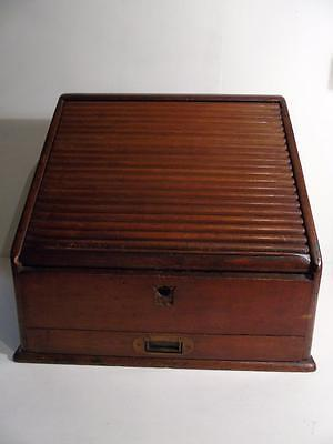 Victorian roll top bureau box  FREE UK P & P
