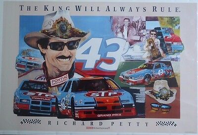 """Richard Petty Poster """"The King Will Always Rule"""" 24"""" X 36"""""""