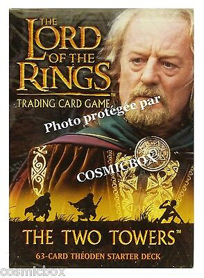 deck LORD of the RINGS starter The TWO TOWERS king THEODEN 63 cards cartes NEW