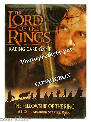 deck LORD of the RINGS starter FELLOWSHIP of RING ARAGORN 63 cards cartes NEW