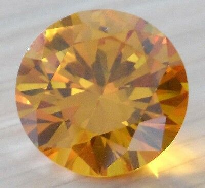 AAAAA Round Shape Faceted Cut Loose Gemstone VVS Yellow Sapphire U Pick Size