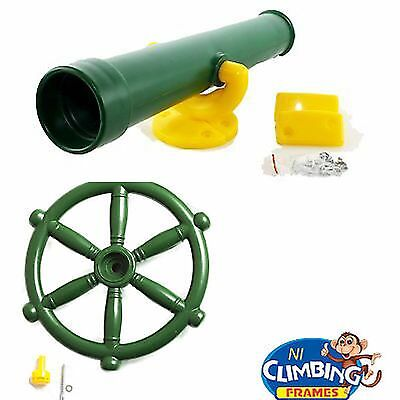 FREE Teslecope with every Pirate Ship Boat Steering Wheel climbing frame, kids