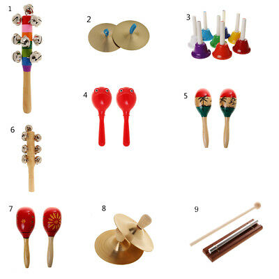 Percussion Set Hand Shaking Bell Maraca Copper Cymbals Bar Bell Music Toy Gift