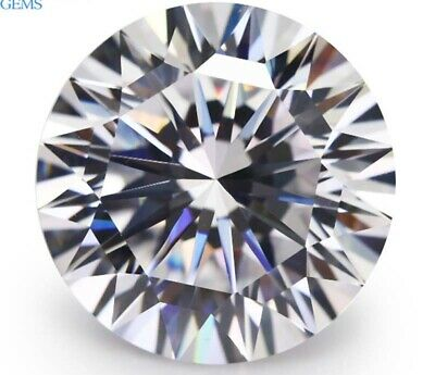 Wholesale AAAAA White Sapphire Round Shape Faceted Cut VVS Loose Gem U Pick Size