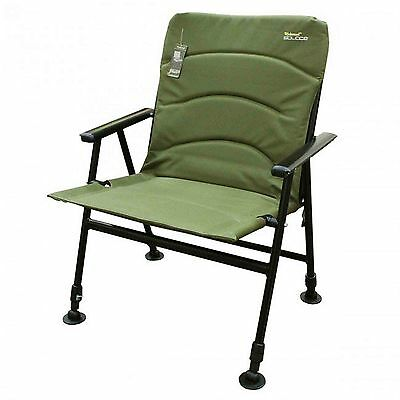 Wychwood Solace Padded Back Comforter High Leg Mattress Foldable Fishing Chair