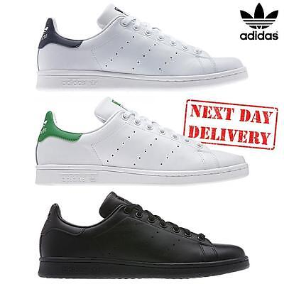 ✅24hr DELIVERY✅ ADIDAS STAN SMITH WHITE LEATHER CLASSIC TENNIS SHOES 3 COLOURS