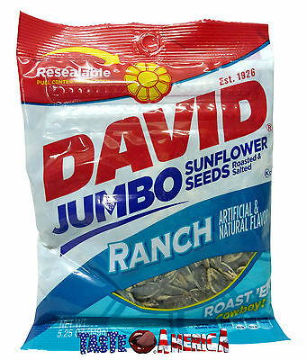 David Ranch Flavour Roasted & Salted Jumbo Sunflower Seeds 149g Bag