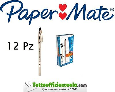 Penne a sfera cancellabili PAPER MATE REPLAY conf. 12 pz NERO - cancell penna