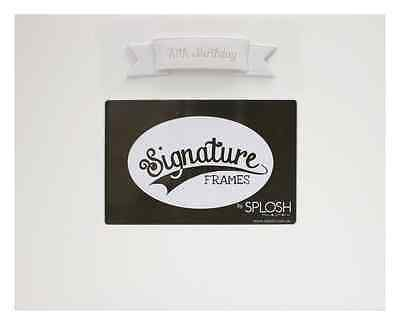 NEW Splosh 70th Birthday Signature Photo Frame You Sign With Pen SG70