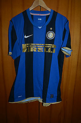 Inter Milan Italy 2008/2009 Home Football Shirt Maglia Jersey Ibrahimovic Era