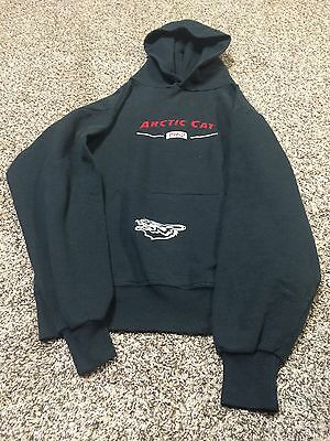 Vintage Vtg Men's Black Hoodie Sweatshirt Arctic Cat Small