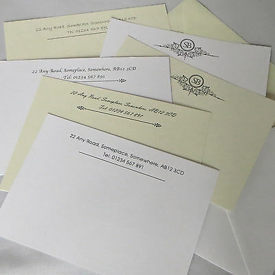 Personalised Correspondence Cards Note Card Writing Set Thank You With Envelopes