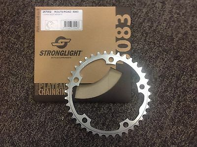 Stronglight 38 Tooth chain ring 130 BCD Silver