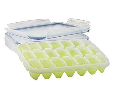 Komax Ice Cube Tray with No-spill Cover (Set of 2)