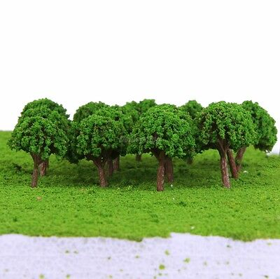 50pcs 30mm N Z GAUGE SCALE TREES SHRUBS