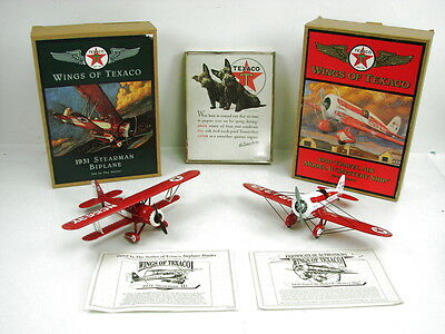 """2 Wings of Texaco Model R """"Mystery Ship"""" 1931 Stearman Biplane and Magazine Page"""