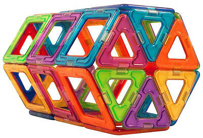50 Pcs All Magnetic Set Triangle Square Similar Magformers Build Toys Boys Girls