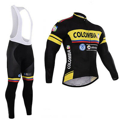 Mens Cycling Clothing Sets Bicycle Bike Jerseys Long Pants Outfits Breathable