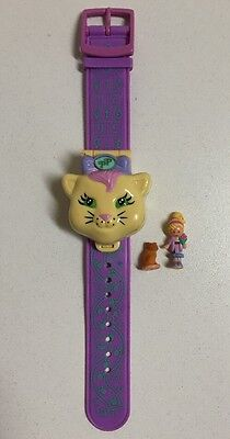 Vintage Bluebird Toys 1995 Polly Pocket PP Polly Loves Kitty Compact Watch