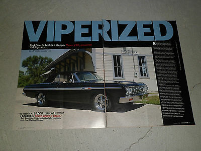 1964 PLYMOUTH FURY CONVERTIBLE article / ad