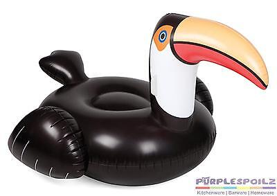 NEW SUNNYLIFE INFLATABLE TOUCAN Pool Beach Swimming Toy Blowup Float Floatie